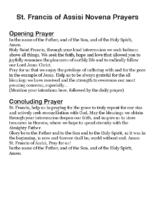 St Francis of Assisi Novena