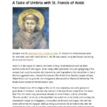 A Taste of Umbria with St Francis