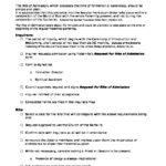 Checklist for Preparation Admission