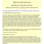 Rituale Romanum Blessing of Water