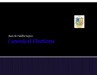 CANONICAL ELECTION