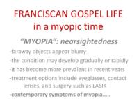 Franciscan Gospel Life – Fr Bill Kraus OFM Cap.