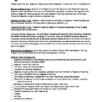Visitation Document Check Off Sheet In Preparation For Regional Visitation 2018