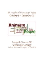 12 Weeks of Franciscan Peace October 3 – December 25