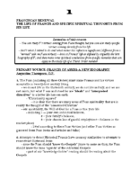 Franciscan Renewal III Notes Combined