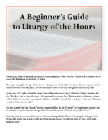 A Beginner's Guideto Liturgy of the Hours