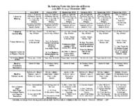 SFO Calendar July 2021 through December 2021